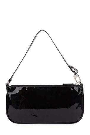 BY FAR Rachel Small Patent Shoulder Bag