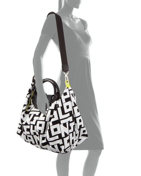 Longchamp Le Pliage LGP XL Logo-Print Travel Tote Bag