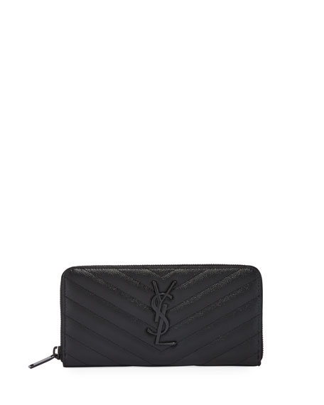 Image 1 of 1: YSL Monogram Continental Zip-Around Wallet