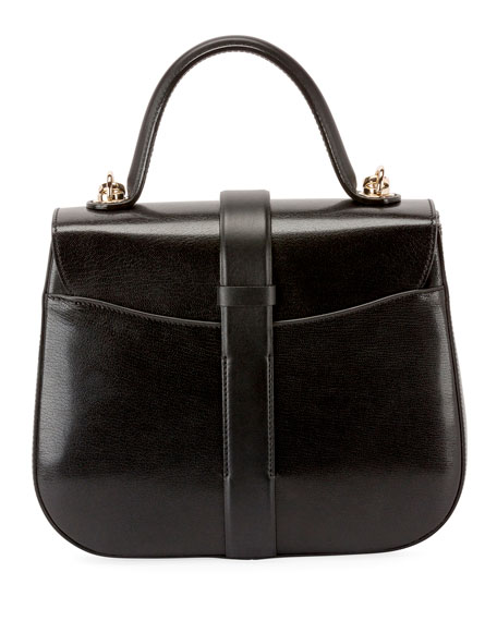 Roger Vivier Beau Vivier Smooth Calf Leather Top-Handle Shoulder Bag