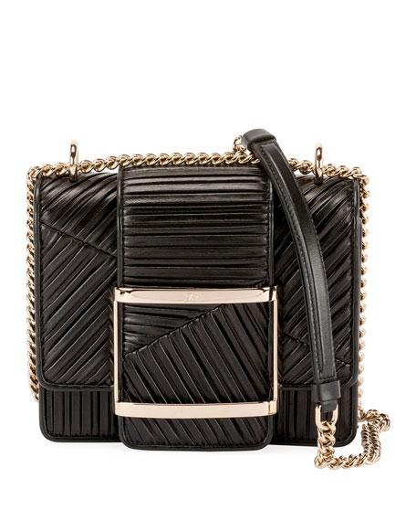 Roger Vivier Res Duo Plisse Mini  Clutch Bag