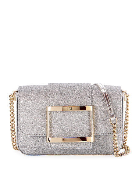 Roger Vivier Tres Micro Glitter Clutch Bag
