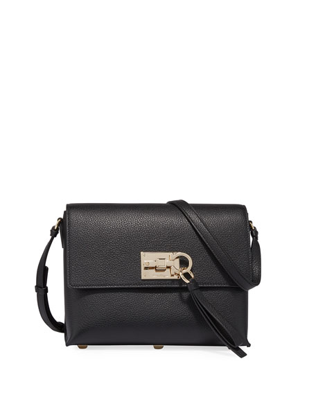 Salvatore Ferragamo The Studio Small Crossbody Bag, Black