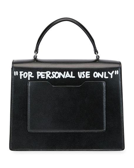 Off White Jitney 2 8 Quot Cash Inside Quot Top Handle Bag Black