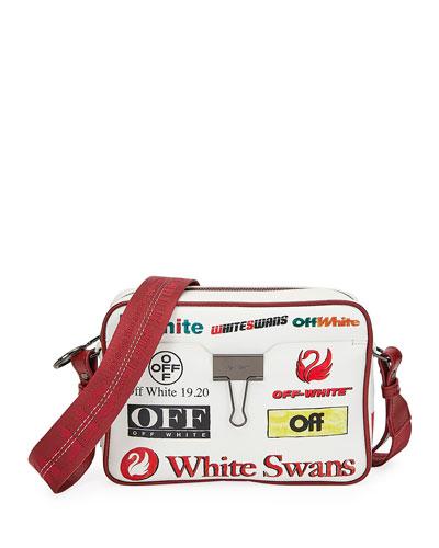 Multi-Logo Camera Shoulder Bag
