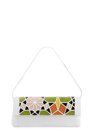 Nancy Gonzalez Gotham Crocodile Patchwork Clutch Bag