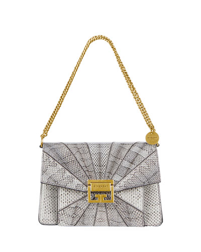 GV3 Small Patchwork Snakeskin Shoulder Bag