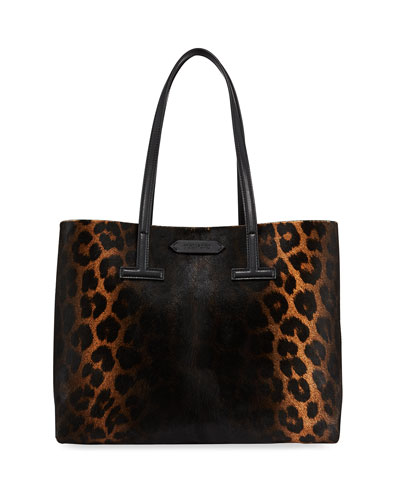 Small Leopard T Tote Bag