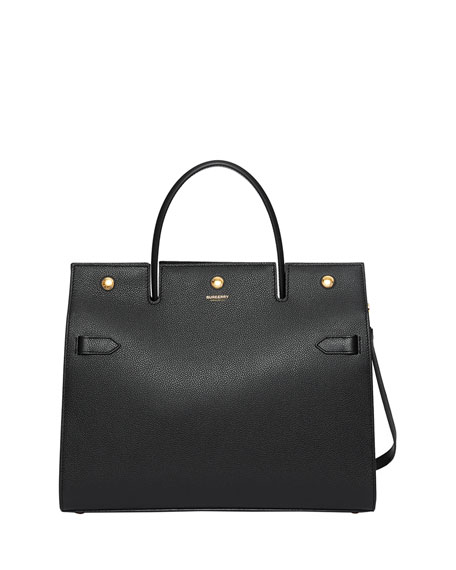 Burberry Smooth Leather Tote Bag