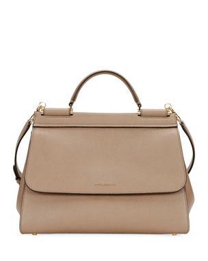 aab8b7e315bcf Dolce   Gabbana Sicily Soft Top-Handle Bag