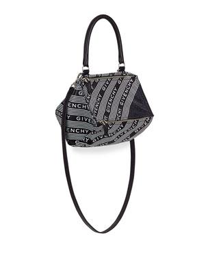 5ed1b9e6099 Givenchy Pandora Small Bicolor Logo Satchel Bag