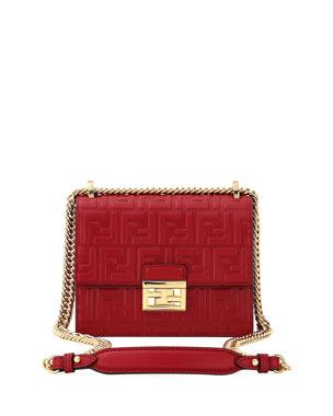b57cbf6a8c5e5 Fendi Kan I Small FF Shoulder Bag