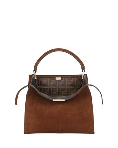 Peekaboo Suede FF 1974 Top-Handle Bag