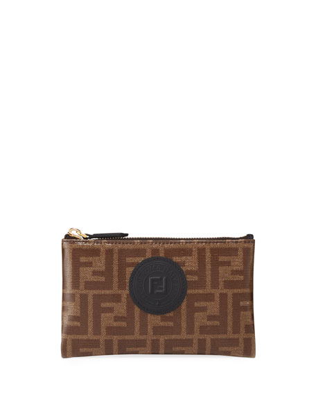 Fendi FF Fabric Small Wallet Pouch