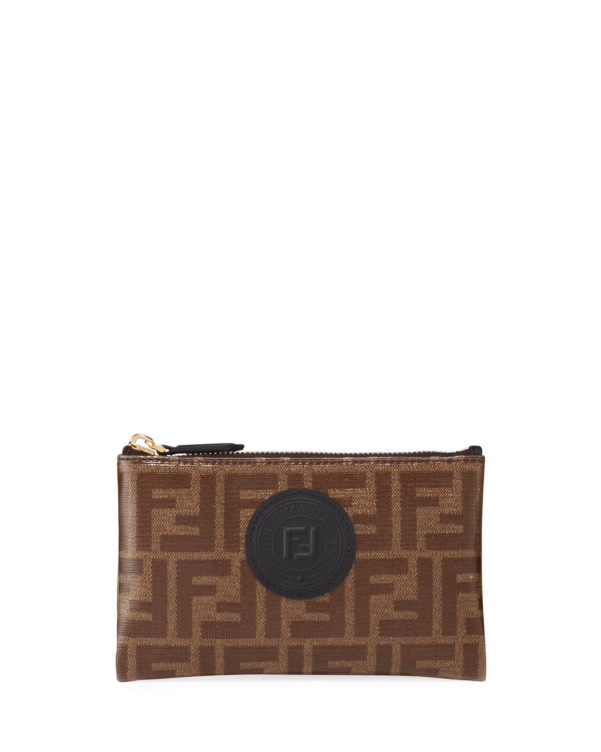 Ff Fabric Small Wallet Pouch by Fendi