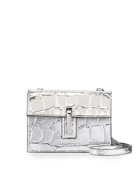 Hayward Mini Soft Embossed Faux-Leather Clutch Bag