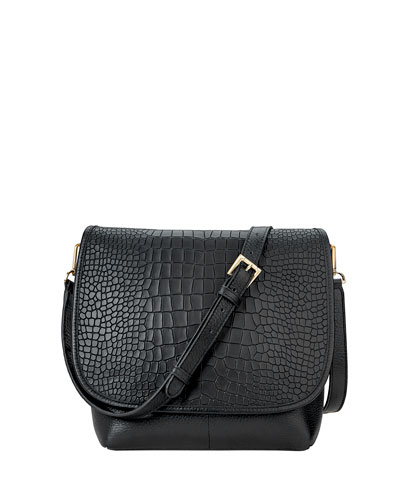 Andy Alligator-Print Crossbody Bag