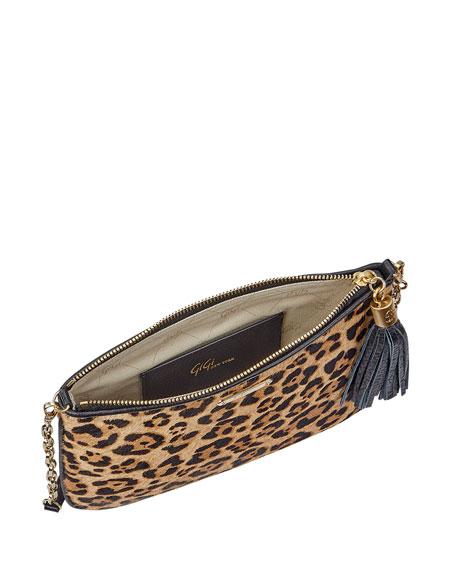 Gigi New York Chelsea Leopard-Print Crossbody Bag