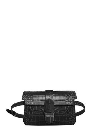 Senreve Aria Convertible Mock-Croc Belt Bag