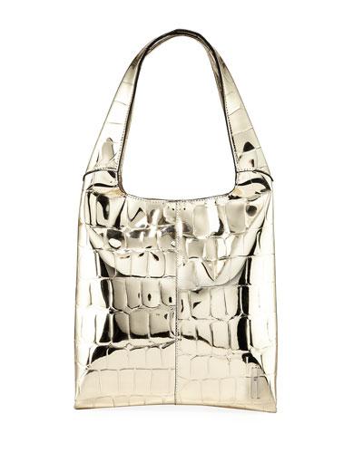 Grand Shopper Medium Embossed Tote Bag