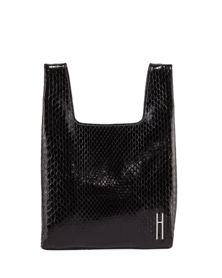 Hayward Mini Python Shopper Tote/Clutch Bag