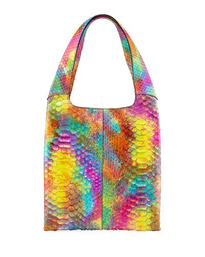 Grand Shopper Medium Python Tote Bag