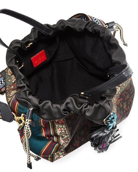 Etro Soft Cinch Floral Top-Handle Bag