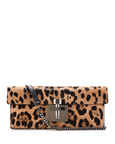 Slim Alibi Leopard Shoulder Bag