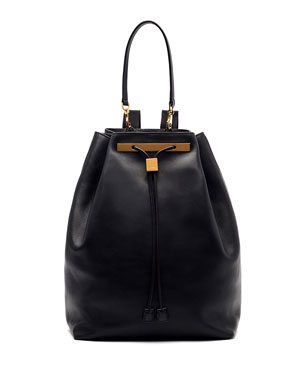 1242cd43572 THE ROW Soft Leather Drawstring Backpack