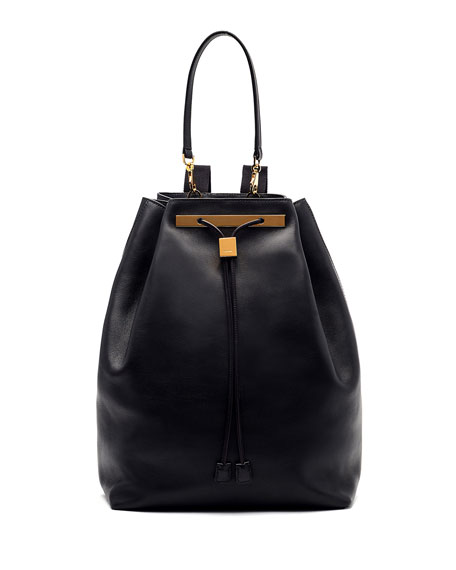 THE ROW Soft Leather Drawstring Backpack