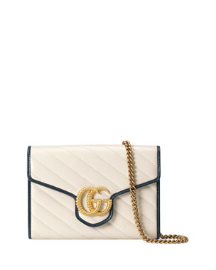 b8b46472d77 Gucci GG Marmont Torchon Wallet On Chain
