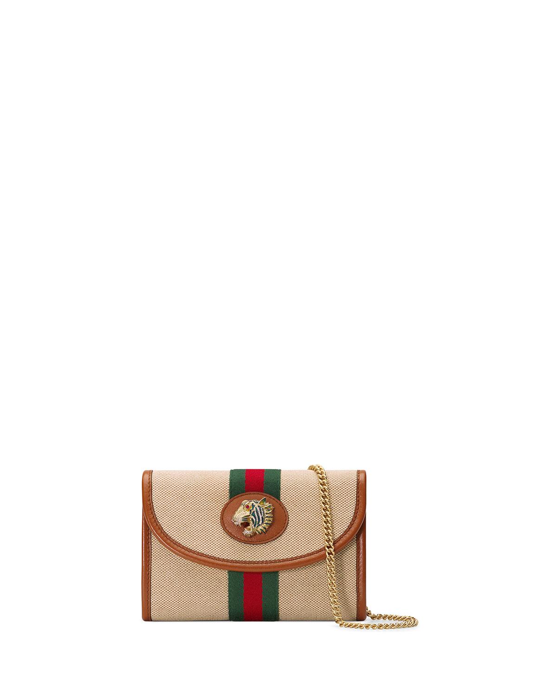 0b41c5a084f2c0 Gucci Rajah Mini Canvas Crossbody Bag | Neiman Marcus