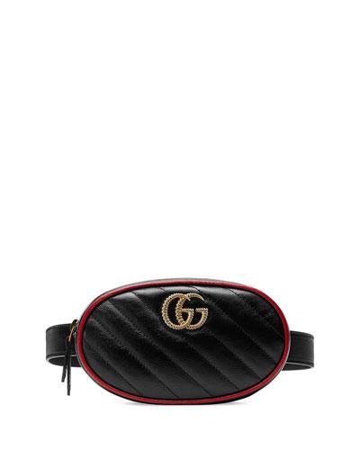 0e9f095eb040 Gucci Printed Leather Belt Bag from mytheresa - Styhunt