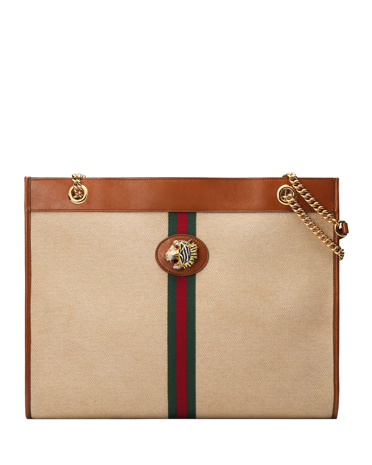 5bf89c00940e Gucci Rajah Large Canvas Tote Bag | Neiman Marcus