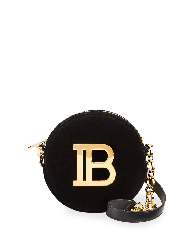 Disco Velvet And Logo Crossbody Bag by Balmain