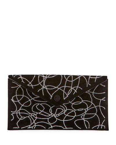 Oum Crystal Swirl Clutch Bag