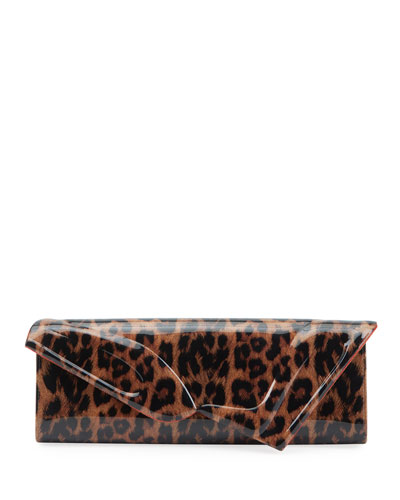 So Kate Leopard Baguette Clutch Bag
