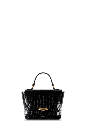 Wandler Luna Mini Croco Calf Top Handle Bag