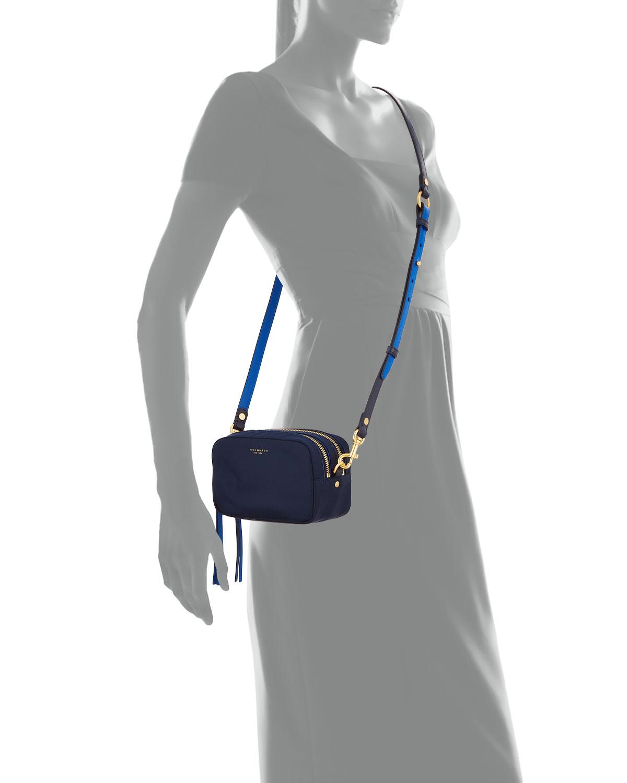 Perry Mini Colorblock Nylon Crossbody Bag by Tory Burch