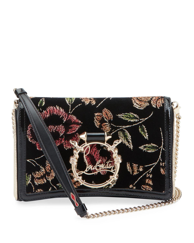 Rubylou Velvet Ronsardlame Tweedsnake Clutch Bag by Christian Louboutin