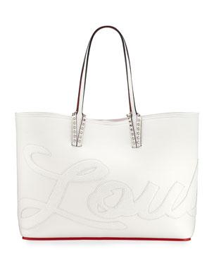f0f59a0a9 Christian Louboutin Cabata Logo Calf Glitter Tote Bag