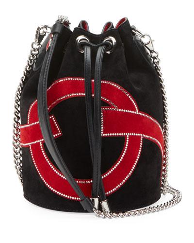 Marie Jane Bucket Love Suede Bucket Bag