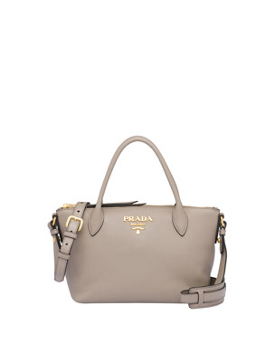 a1cb6b770581 Prada Small Daino Leather Tote Bag