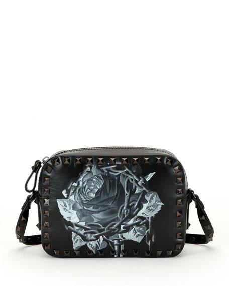 Valentino Garavani Rockstud Undercover Print Leather Crossbody Camera Bag