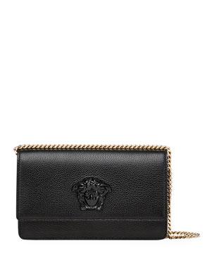 0045eaced00 Versace Medusa Head Leather Crossbody Bag