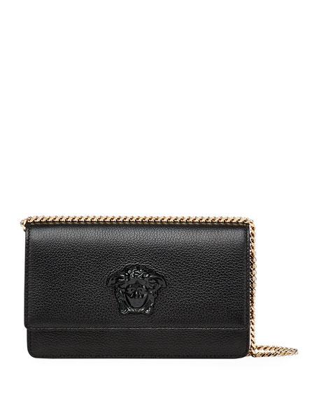 Versace Medusa Head Leather Crossbody Bag