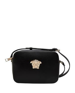 49df9927f7 Versace Medusa Chain Leather Camera Bag