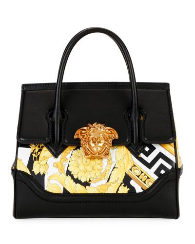 Palazzo Savage Barocco Leather Top Handle Bag