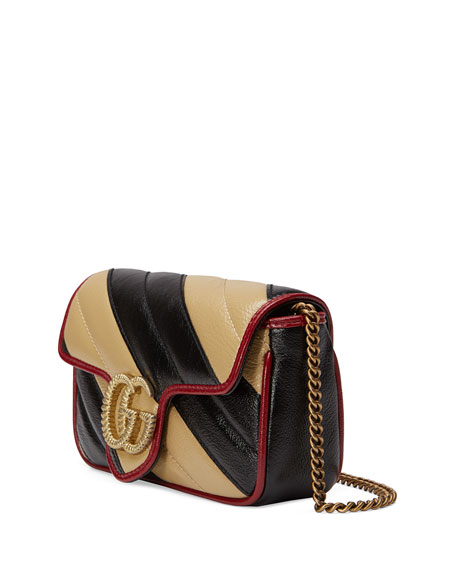 Gucci GG Marmont Striped Crossbody Bag