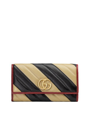 39ef80e6b65 Gucci GG Marmont Torchon Continental Wallet